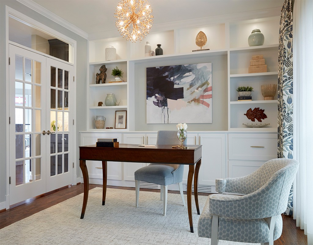 home office built in storage and seating