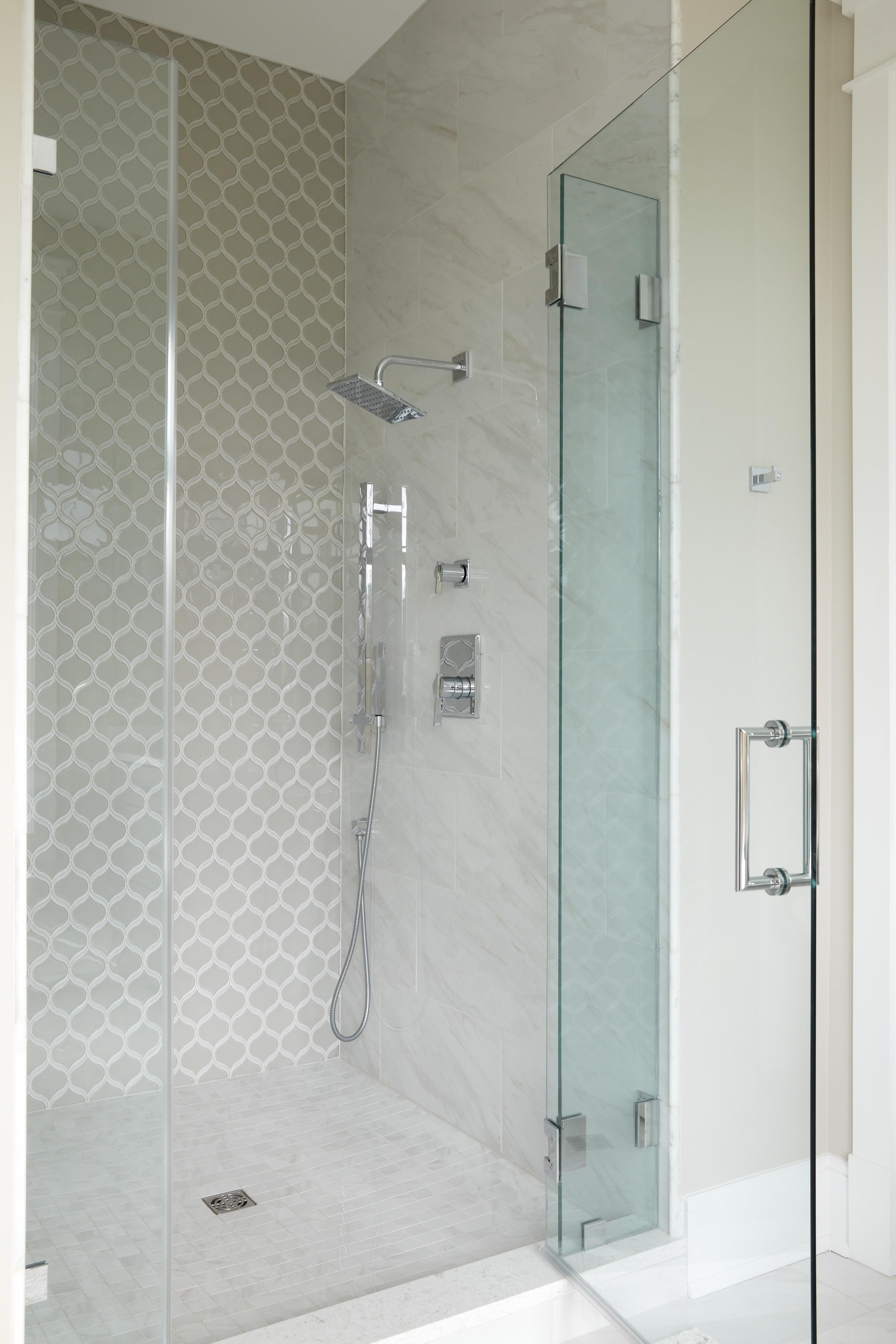 Frederick Master Bath Shower fixtures and Tile detail